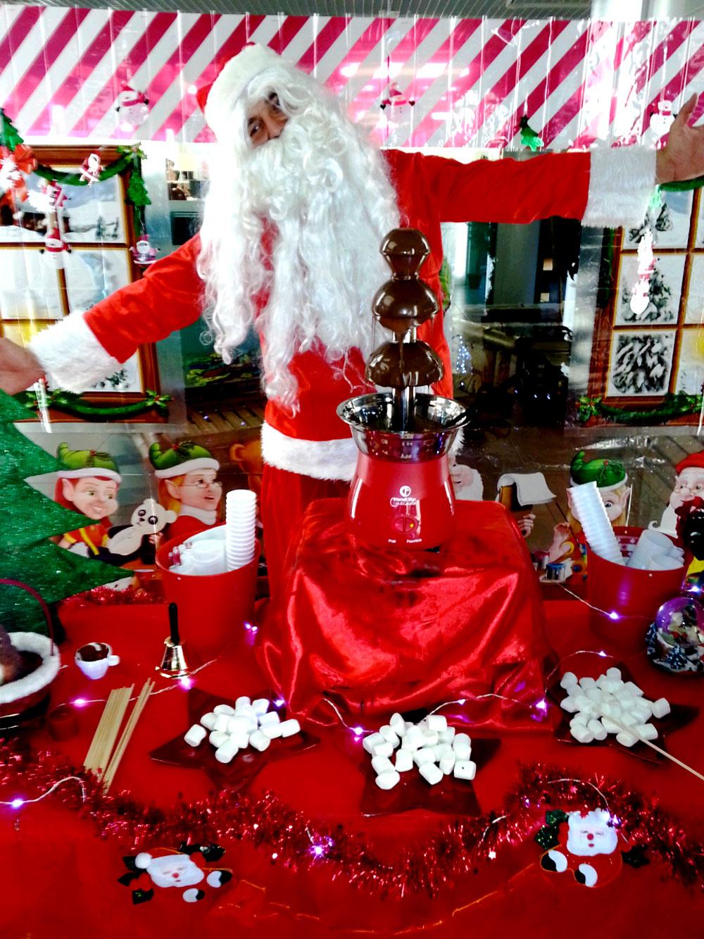Festa di Natale - Fontana di cioccolato