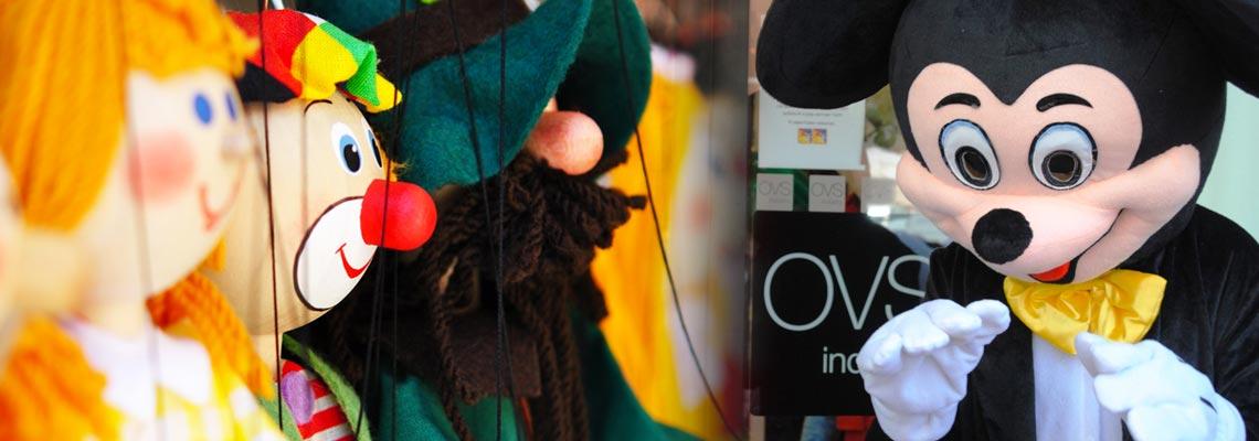 marionette sfilata mascotte