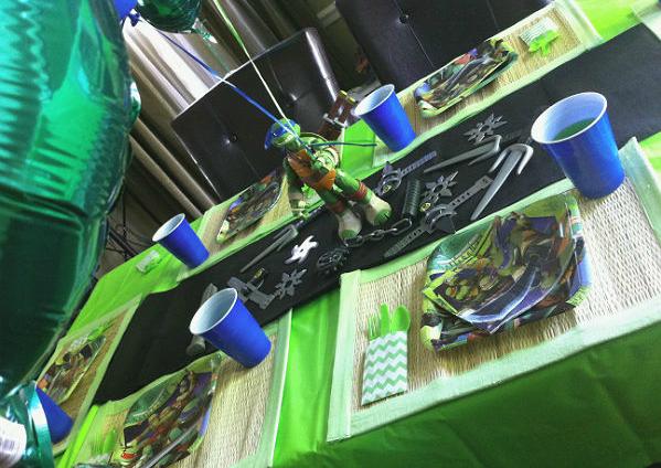 Festa a tema tartarughe ninja di